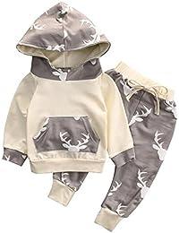 5dc3011b940bb Towear Tenue pour bébé garçon Pantalon et sweat à capuche à ...