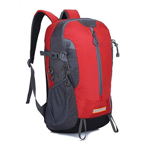 Faltbar Wasserdicht Reisen Nylon Schulter Tasche Leicht Red