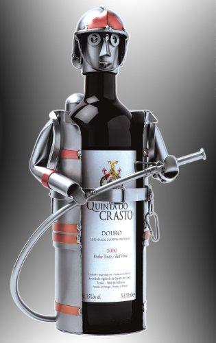 Boystoys HK Design Weinflaschenhalter Feuerwehrmann 'Feuerwehr' - Metall Art Weinflaschen-Deko &...