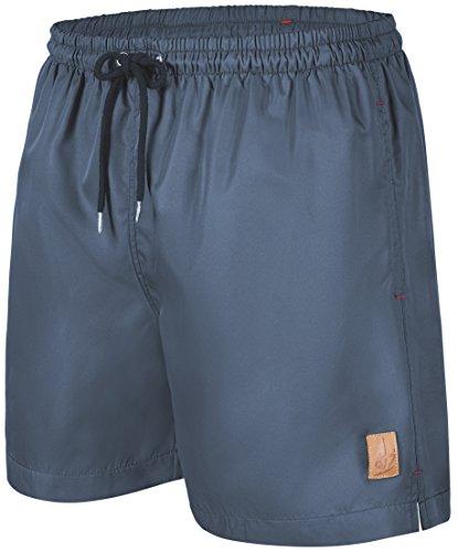 #101 Badeshorts Herren a1002 Windstärke7 S-graublau, Größe 4XL (Hosen Polyester-aktion)
