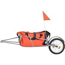 Xingshuoonline - Remolque para equipaje de bicicleta, con bolsa, color naranja y negro