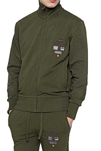 Aeronautica militare cf_am-hs9001, felpa uomo, verde (military green), medium (taglia produttore:m)
