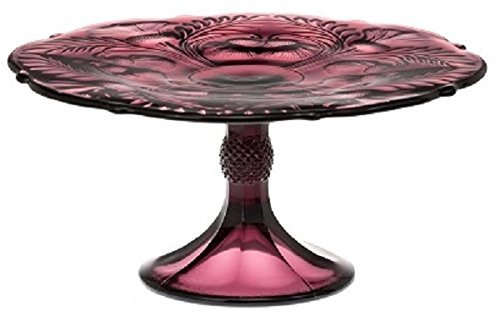Cake Plate - Inverted Thistle - Mosser Glass - USA - Large (Amethyst) by Rosso Glass