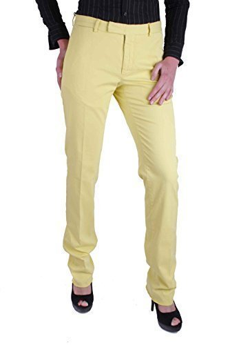 Ralph Lauren Damen Hose Polo Chino Stretch Preppy Gelb 30/34(W30/L34) (Lauren Ralph Stretch Hosen)