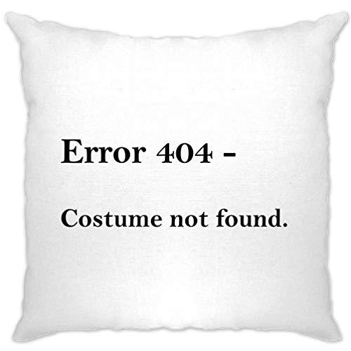 Tim And Ted Nerdy Halloween Kissenhülle Fehler 404, Kostüm Nicht gefunden White One (Kostüm Nerdy Mädchen)