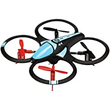Arcade Nano - Drone cuadricóptero de largo alcance 450 mAh con propulsores de recambio, color negro