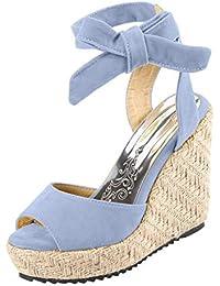 LILICAT✈✈ Zapatos Casuales/Sandalias Sandalias Mujer Verano 2019 Tallas Grandes Moda Sandalias de cuña de Verano de Mujeres Sandalia con Hebilla y Boca de pez señoras Zapatos de Playa niña Calzado