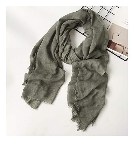 Zxxwj stile unisex inverno sciarpa cotone e lino color lunga donna sciarpe scialle moda uomo sciarpa,colore 4