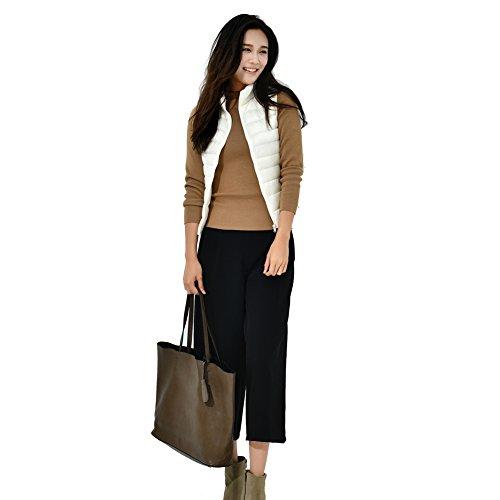 YY-Rui Manteau léger à bascule pour femme Outwear Outwear Casual Tops Blanc