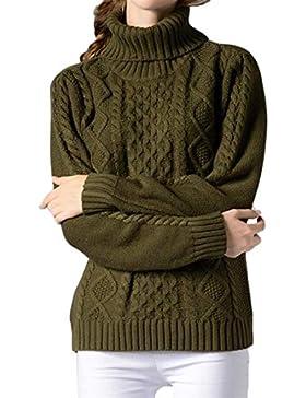 Sueter De Mujer Otoño Invierno Elegantes Moda Pullover Cuello Alto Manga Largo Color Sólido Slim Fit Sweater Jerseys...