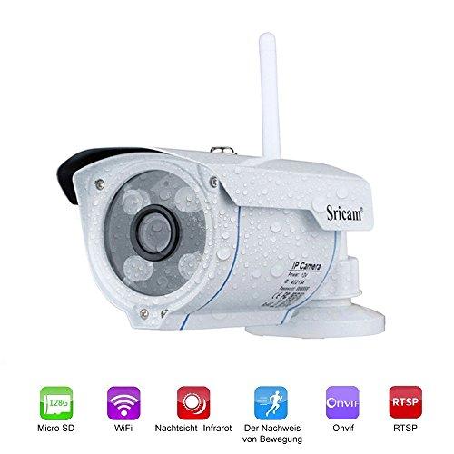 LESHP IP Kamera Video Überwachungskamera Im Freien WiFi Wireless HD 720P IP66 mit Gebrauchsanweisungen / App / Support in Deutscher Vista Remote über Smartphone / Tablet / PC