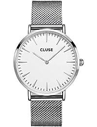 Cluse La Bohème - Reloj de pulsera, color plateado