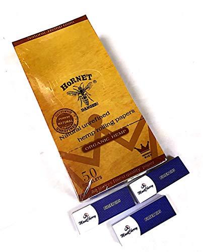 Hornet - Cartine biologiche per sigarette, misura standard, 50 confezioni