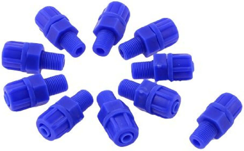 10mm Rosca neumático conector recto 10pcs de montaje para el Tubo