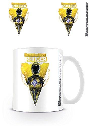 Power Rangers Movie Yellow Ranger Ceramic Mug Kaffeetassen, Keramik, Mehrfarbig 7.9 x 11 x 9.3 cm