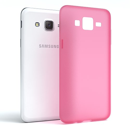 Samsung Galaxy J5 (altes Modell) Hülle - EAZY CASE Ultra Slim Cover Handyhülle - dünne Schutzhülle aus Silikon in Transparent Matt Pink