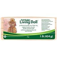Sculpey Super Living Doll Clay, 1-Pound, Beige