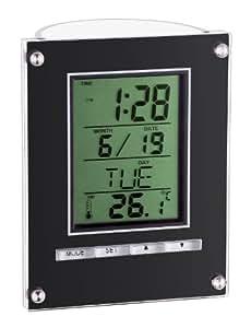 TFA Dostmann 98.1075.01 elektronischer Wecker mit Stiftehalter / Gehäuse schwarz