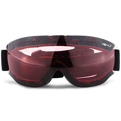 YHBHHW Kinderskibrille, Anti-Nebel- und Windschutz-UV-Brille, Outdoor-Reitbrille, Unisex, Bunte...