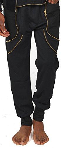 pizoff-herren-hip-hop-jogginghosen-mit-einsatz-und-golden-reisverschluss-p3149-black-2xl