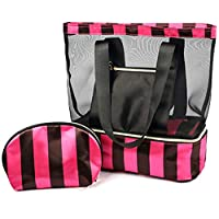 Warooma Beach Tote Bag Toiletry Bag Travel Luggage Pouch Waterproof Cosmetic Bag Organizer with Zipper for Women