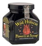 Fleurs d'hibiscus originales au sirop pour cocktails et cuisine raffinée, verre à 9 fleurs, 250gr