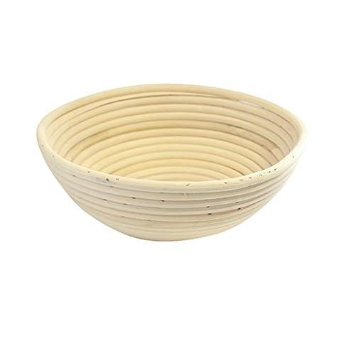 Traditionelle rundförmige Back- Teigschüssel aus natürlichem Rattan- 1KG- Von Kurtzy