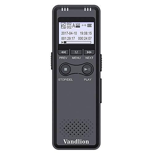 WMWHALE Digital Voice Recorder 8G Voice Activated Recording Portable Recorder mit HiFi MP3 Rauschunterdrückung für Meeting, Vortrag