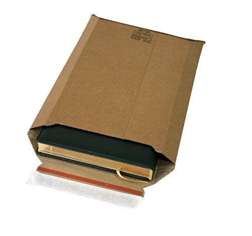 100 Versandtaschen Premium aus Mikro-Wellpappe Karton DIN A4 - flach:353x250mm / aufgestellt 325x200x50mm (Artikel: PS.403)