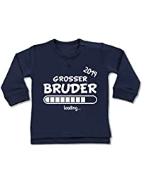 Shirtracer Geschwisterliebe Baby - Großer Bruder Loading 2019 - Baby Pullover
