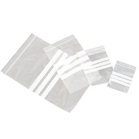 Medium Duty Polythene Grip Seal Bags with Write-on Panel 6