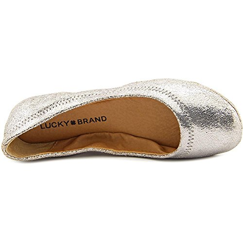Lucky Brand Emmie Cuir Ballerines Light Pewter