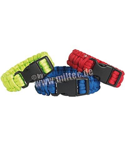 Mil-Tec Bracelet de Paracorde (Rouge, Small)
