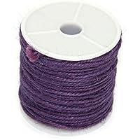 Tinksky Cuerda DIY Yute Cuerda Macrame color joyas carrete encordar guita cuerda de cáñamo 164FT