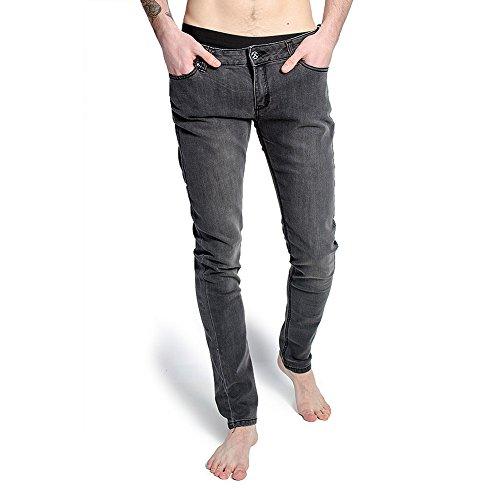 Criminal Damage Jeans Per Uomo Elasticizzati (Grigio Neve Slavato) - 30