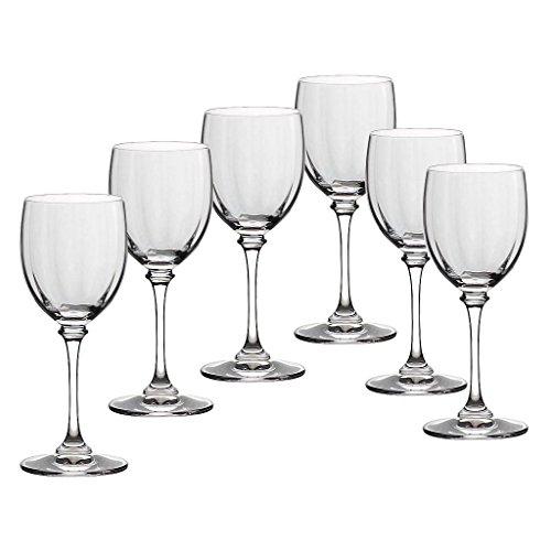 6 x Weinglas, Weinkelch, Römer CONDOR transparent, Bleikristall, 120ml, moderner Style (GERMAN...