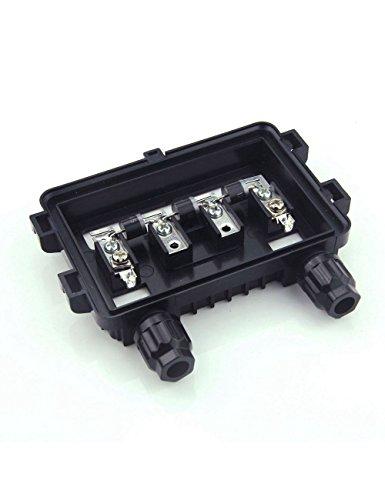 Vikocell Caja de conexión solar de 100W-180W IP65 PV Caja de conexión con 3 diodos Especificación: Corriente nominal: 8.5A Energía clasificada: 100 ~ 180W Espacio entre barras: 23mm Soldadura cinta método de conexión: soldadura Voltaje clasificado: 1...