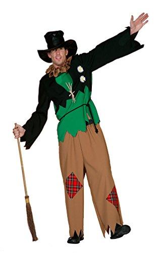 Karneval-Klamotten Vogelscheuche Kostüm Herren Vogelscheuche Herren-Kostüm Scarecrow Karneval Größe 54