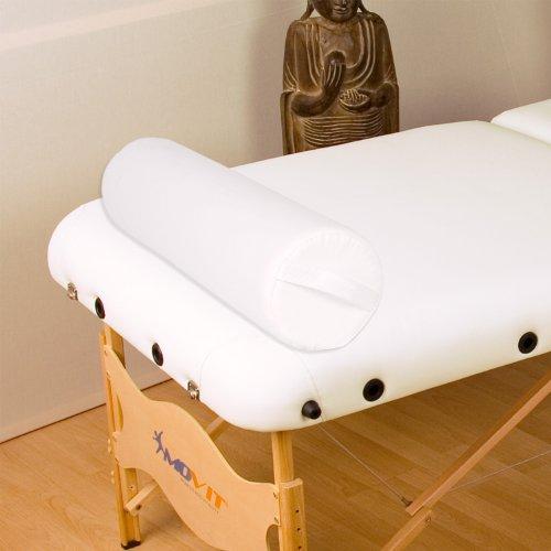 MOVIT® XL Nackenrolle weiß, 68 (L) x 15 (Ø) cm Lagerungsrolle, Kissen für Massageliege Knierolle Therapie Rolle Nackenkissen - 5
