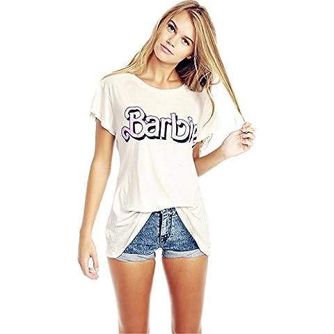Stile di personalità Barbie T-shirt Tee Maglietta Top Cima Con