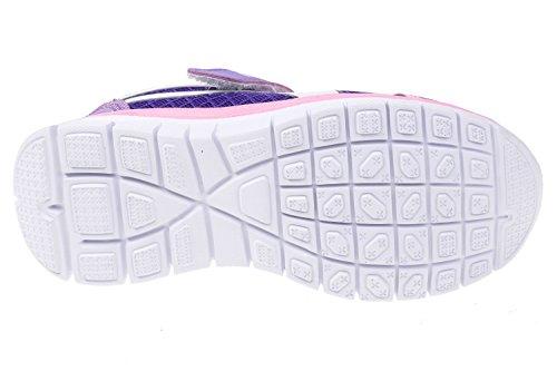 GIBRA® Kinder Sportschuhe, mit Klettverschluss, lila/rosa, Gr. 28-35 Lila/Rosa