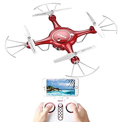RC Drone Wifi FPV 720P HD Camera Quadcopter with Altitude Hold Function Flight Plan Route App Control Syma X5UW Mini FPV Drone Quad-copter with 2 Batteries by Syma