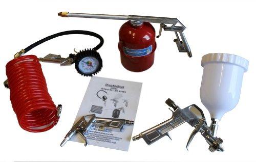 5 teiliges Druckluft Set Kompressor Zubehör Druckluftset Reifenfüller Schlauch