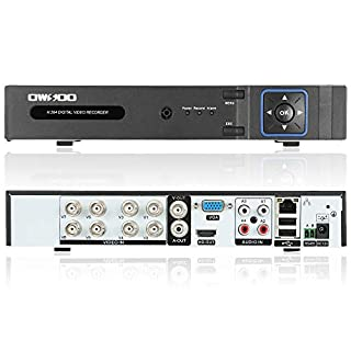 OWSOO AHD 8CH DVR 8Channel Video Recoder 1080P CCTV Security Standalone DVR H.264 HDMI Output Digital Video Recoder for AHD Security Recording Camera P2P Cloud Phone Control Motion Detection Email Alarm