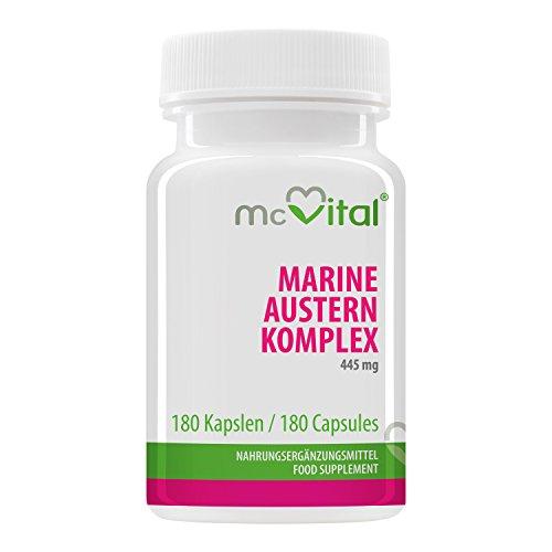 Marine Austern Komplex - 445 mg - mit Vitaminen - Anti-Aging - Mehr Leistung - 180 Kapseln
