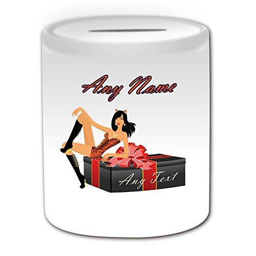 Personalisierter Geschenk-Box Cat Geschenk Hot Girl Money Box (Sexy Lady