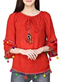 #10: Fablab Tops for Women_ Girls_New Fashion_Western wear_for Jeans_Combo of-1_Red.