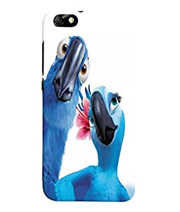 Fuson 3D Printed Birds Designer Back Case Cover for Huawei Honor 4X - D1039