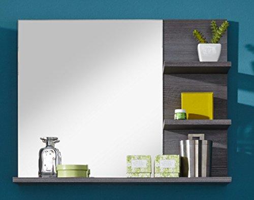 trendteam MI40121 Badezimmerspiegel mit Ablage Rauchsilber Nachbildung, BxHxT 72 x 57 x 17 cm - 2