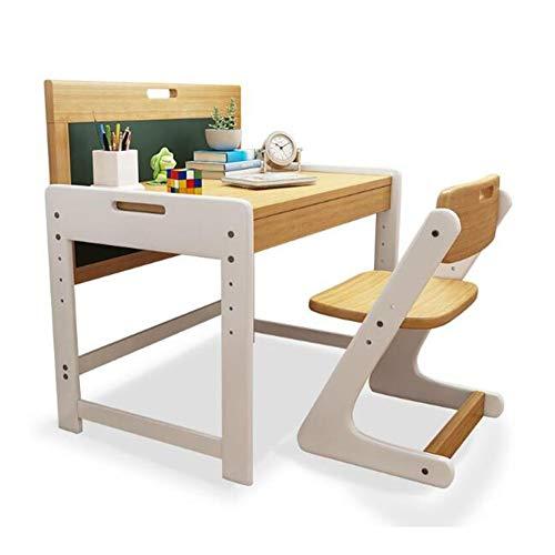 CJC Table Chaises Set, Ordinateur Étudiant Bureau, Solide Bois Pin, Peinture Écrire Devoirs, avec Sketchpad Tiroir (Couleur : 1 Children's Study Table+1 Chair)